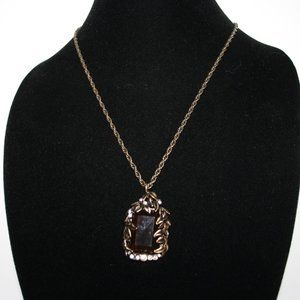 Beautiful bronze and black necklace 32""